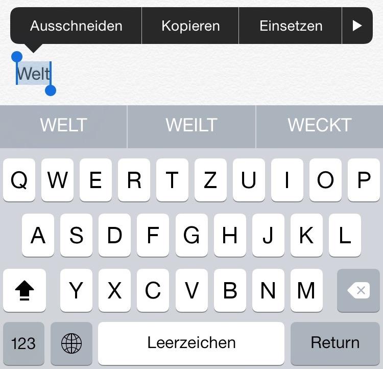 Apple Tastatur QuickType