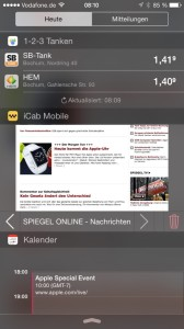 iCab Mobile Widget