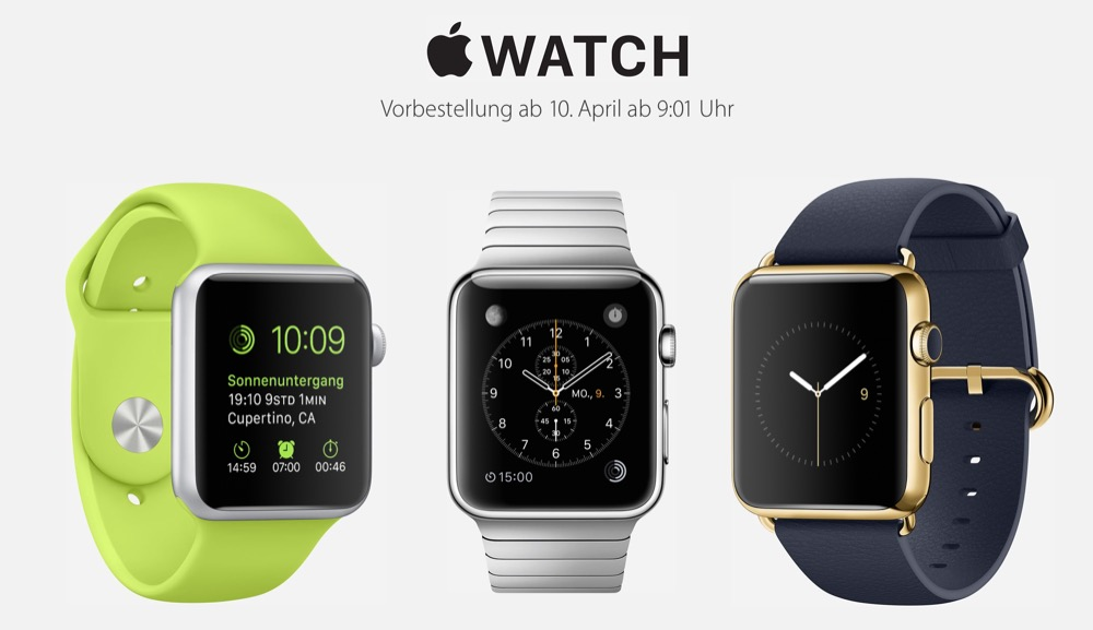 Apple Watch vorbestellen