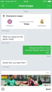 Onefootball chat