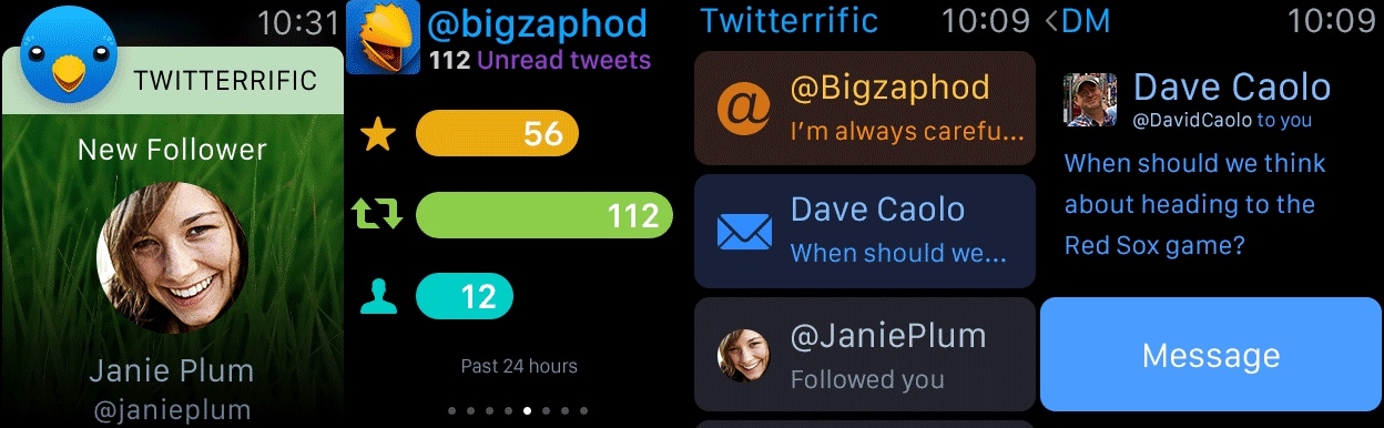 Twitterrific Apple Watch
