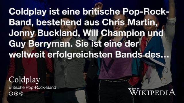 Wikipedia coldplay