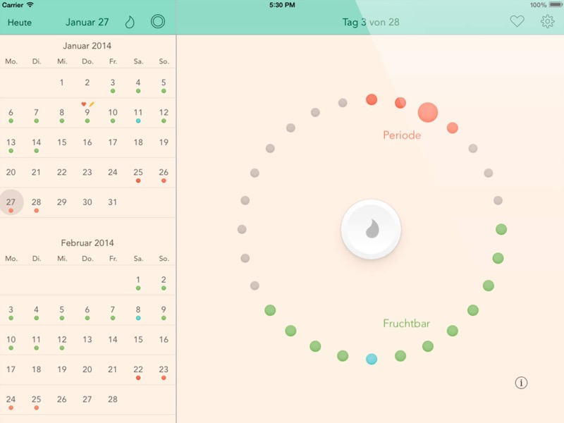 cycles zyklus kalender bezieht partner mit ein. Black Bedroom Furniture Sets. Home Design Ideas