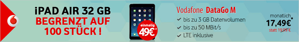Vodafone Modeo iPad Banner
