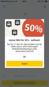 myTaxi 50 Prozent