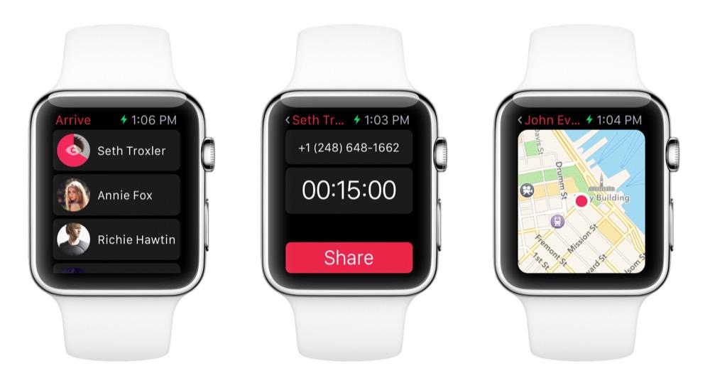 Arrive Apple watch