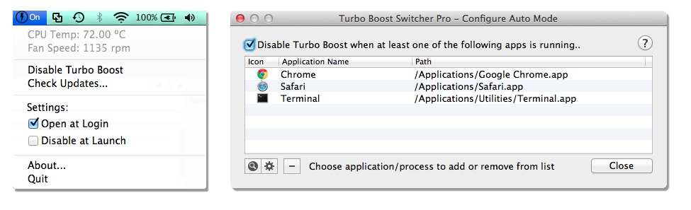 Turbo Boost Switcher