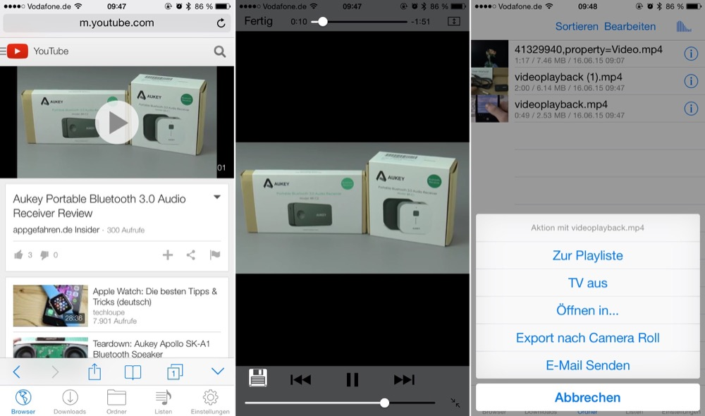 iphone videos runterladen und speichern