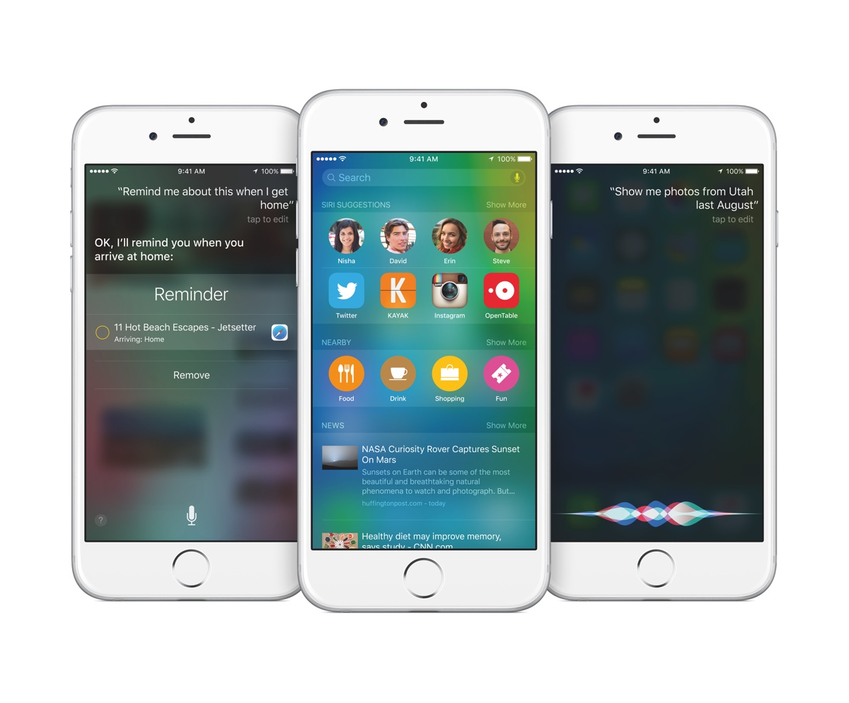 iOS 9 iPhone Siri Spotlight