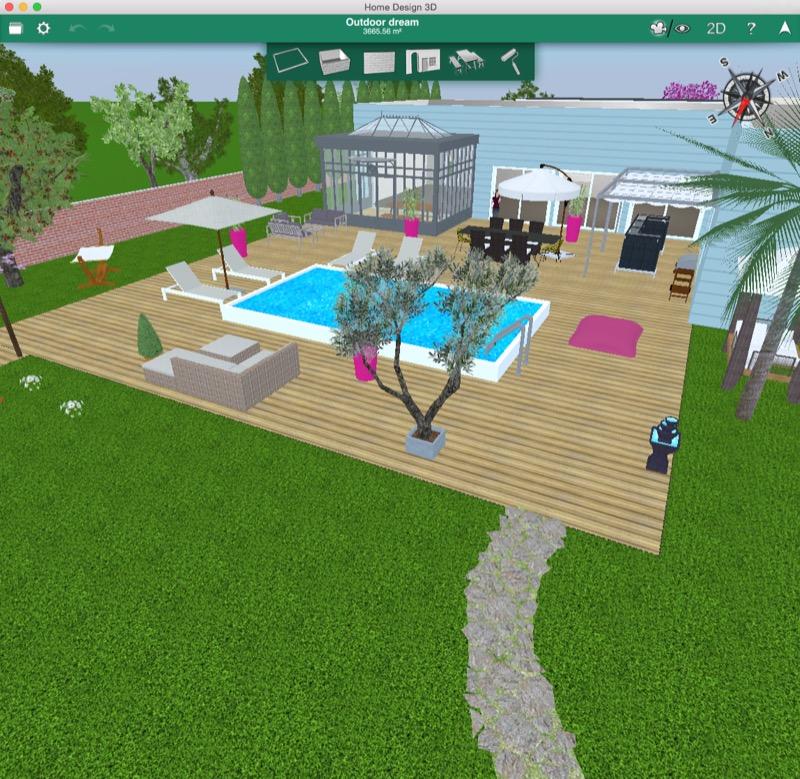 Home Design Ideas Decorating Gardening: Home Design 3D Outdoor & Garden: Mac-App Für Den Garten