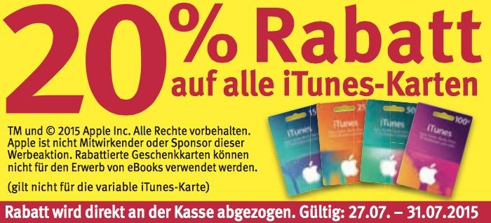 Rossmann iTunes Karten
