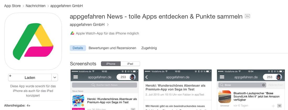 appgefahren News-App App Store