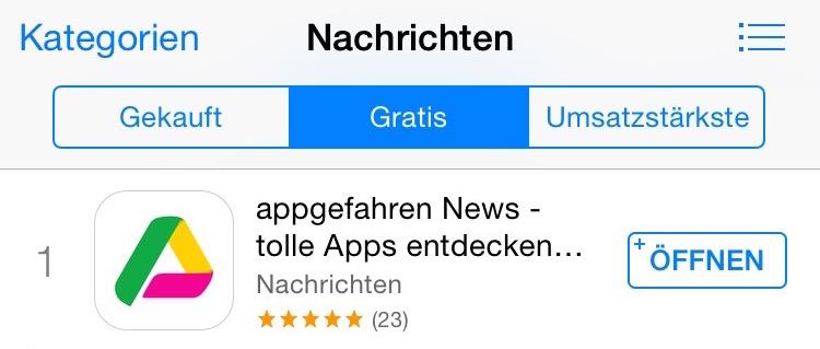 appgefahren News Charts