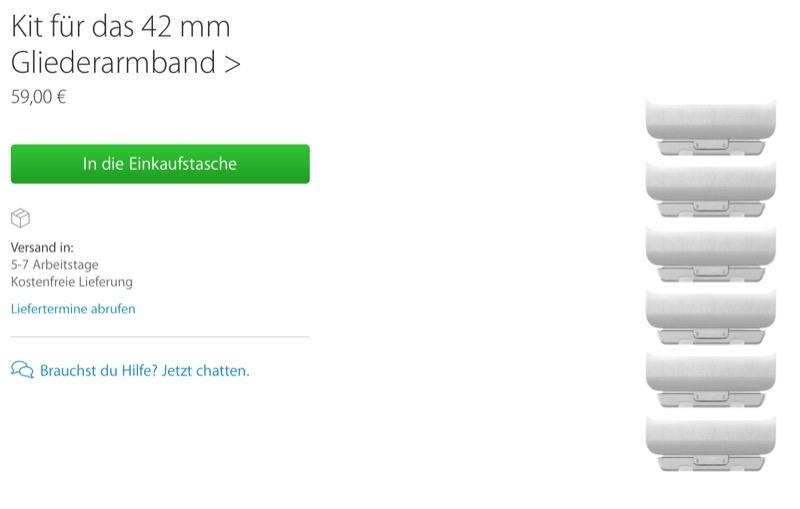 Gliederarmband Kit Apple Watch