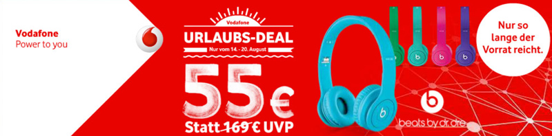 Vodafone Urlaubs-Deal Beats