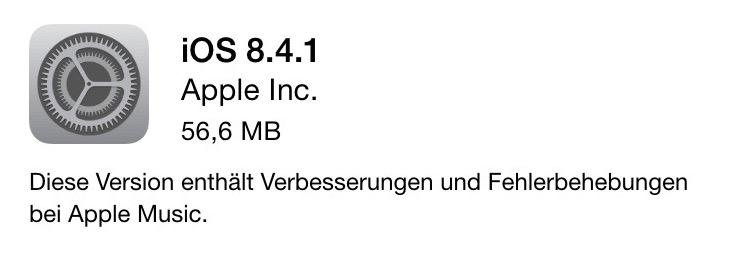 iOS 8 4 1