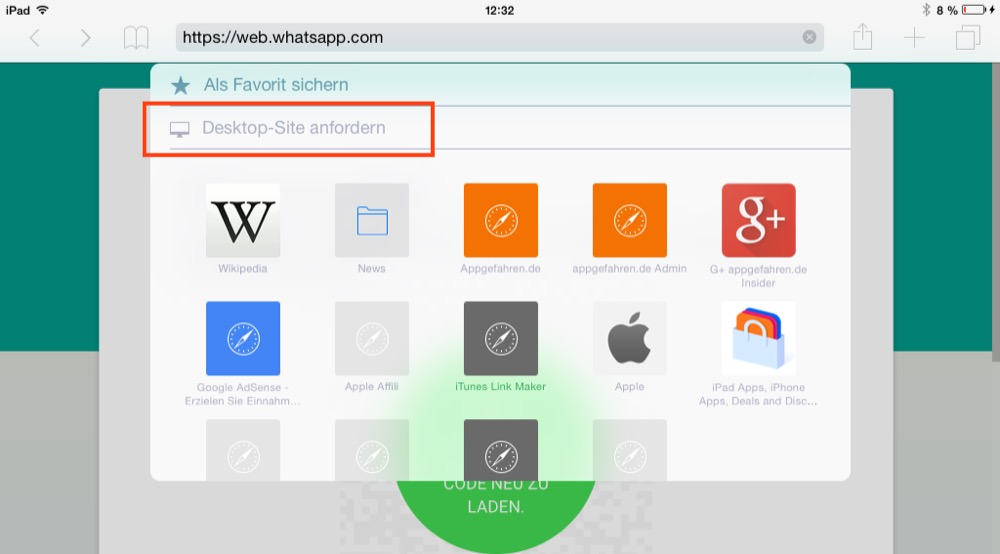 whatsapp web ios8
