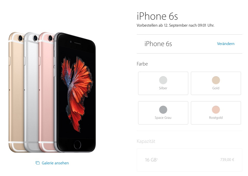 Apple Online Store iPhone 6s