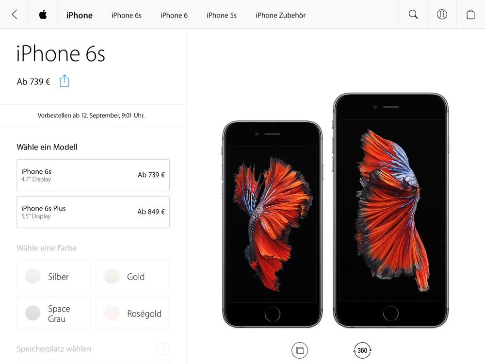 Apple Store App iPhone 6s