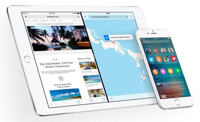 So sieht es vor dem Downgrade von iOS 9 auf iOS 8 aus