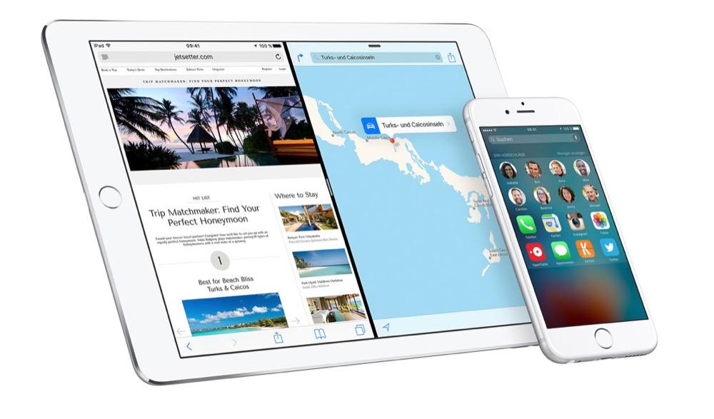 iOS 9 iPhone iPad