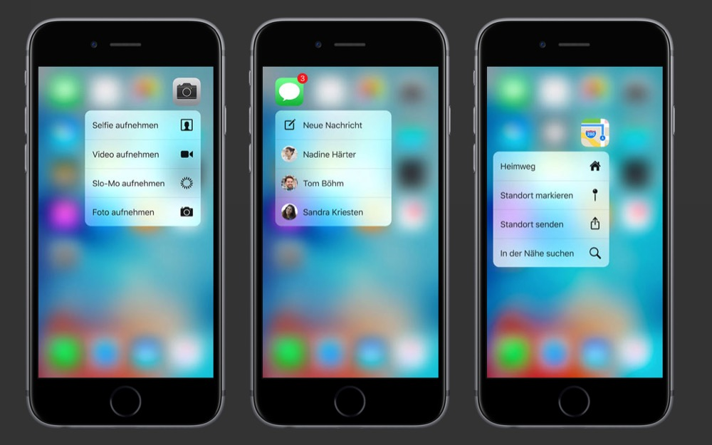 iPhone 6s Homescreen 3D Touch