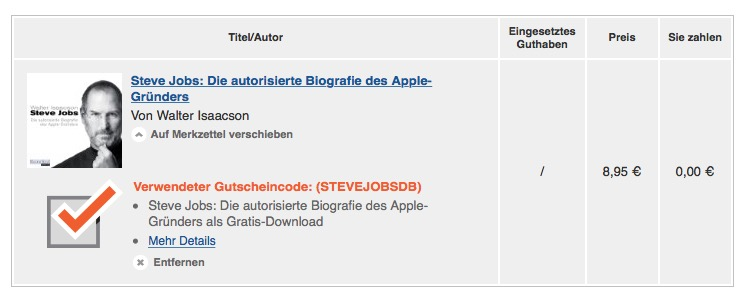 Audible Steve Jobs Gratis