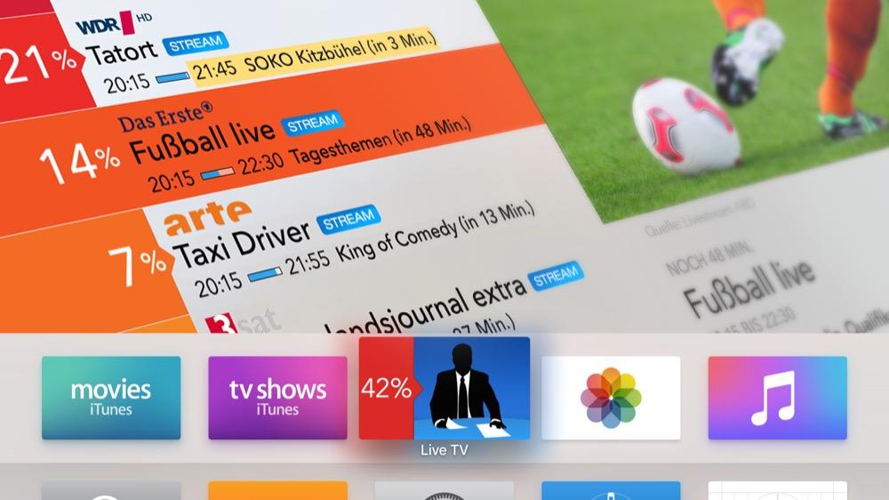 Live TV Home Screen