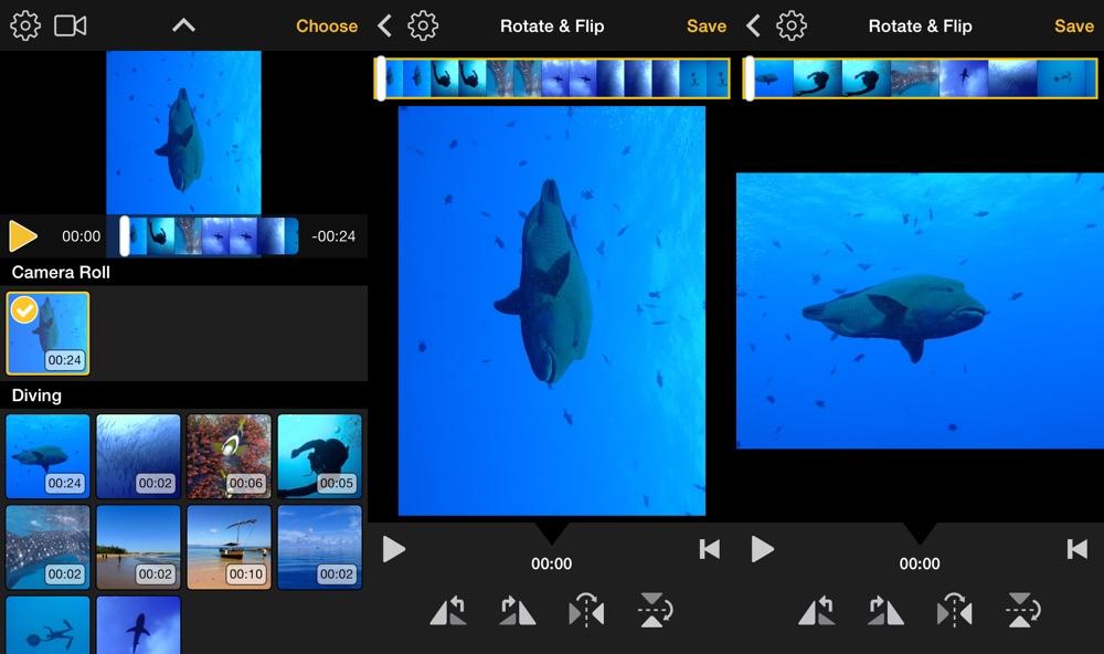 Video Rotate Flip Screens