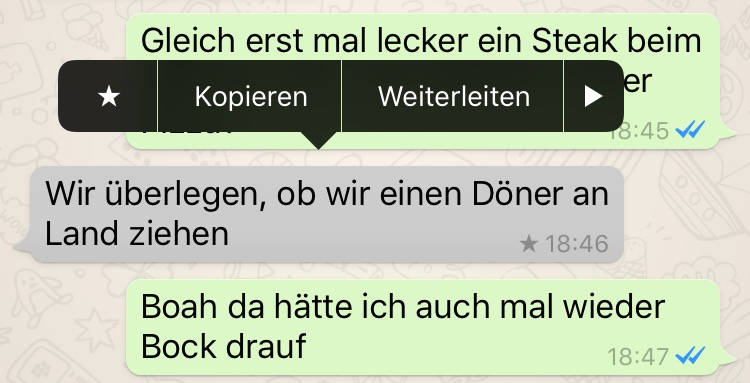 WhatsApp Favoriten