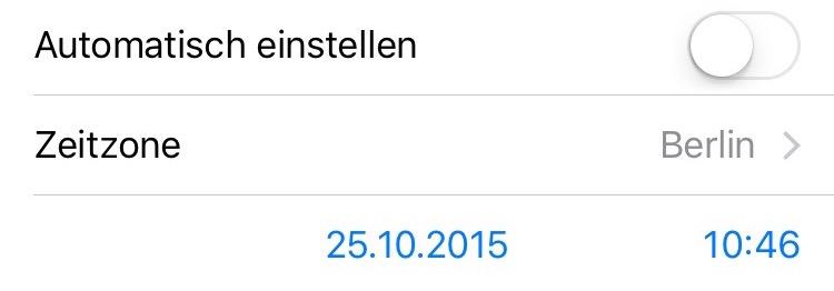 iOS 9 Winterzeit