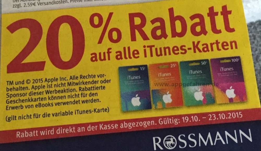 rossmann 10 prozent app