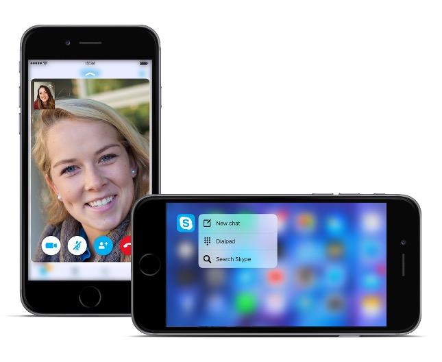 skype 3d touch