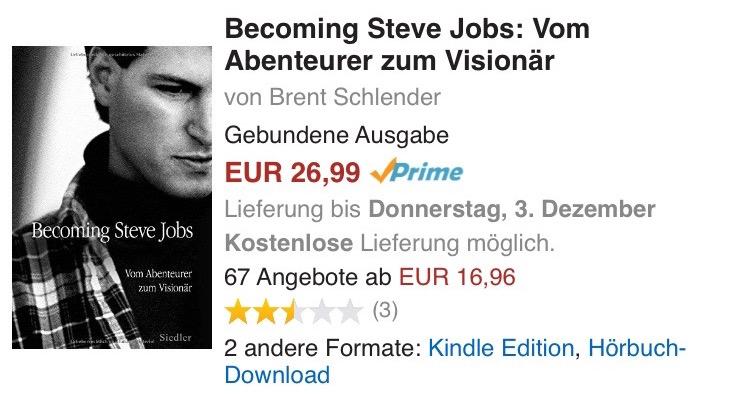 Amazon Becoming Steve Jobs