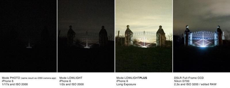 LowLight Plus ProCamera