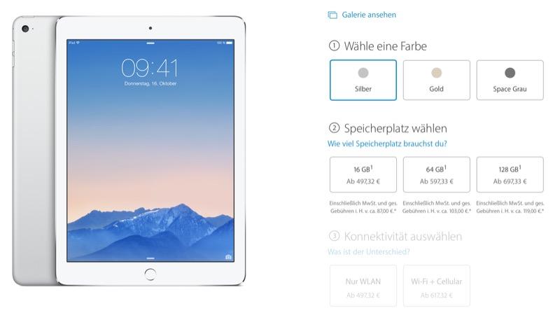 Apple Online Store neue Preise