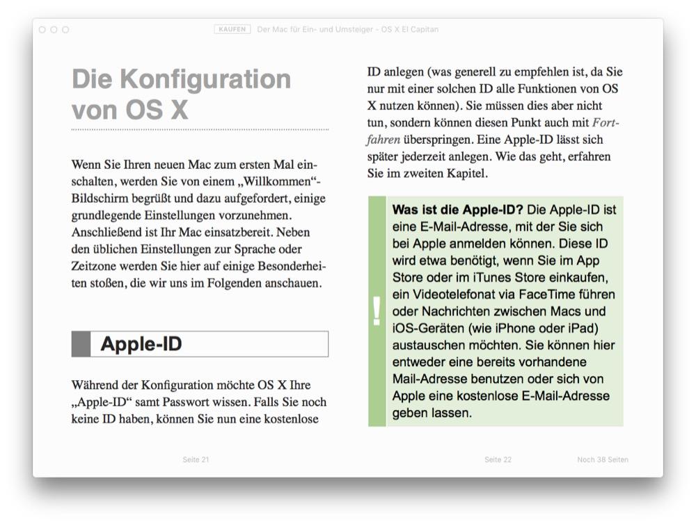 Der Mac fuer Ein- und Umsteiger - OS X El Capitan