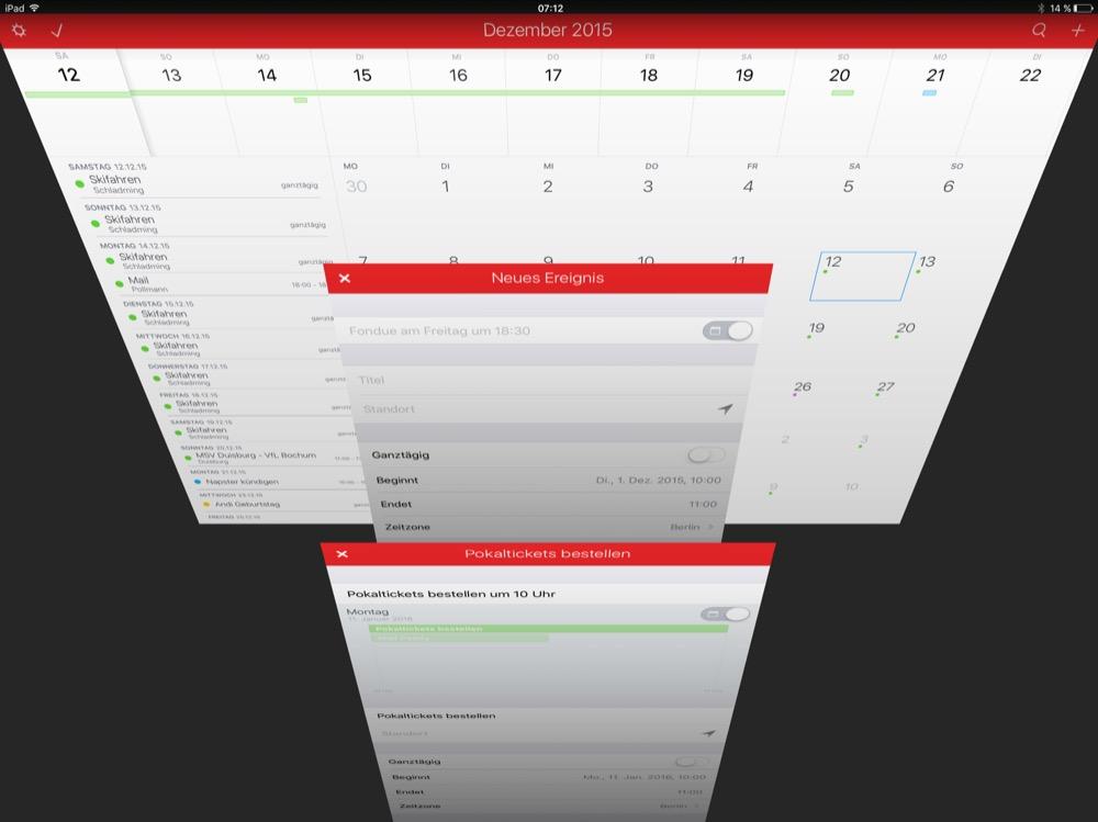 Fantastical iPad Update