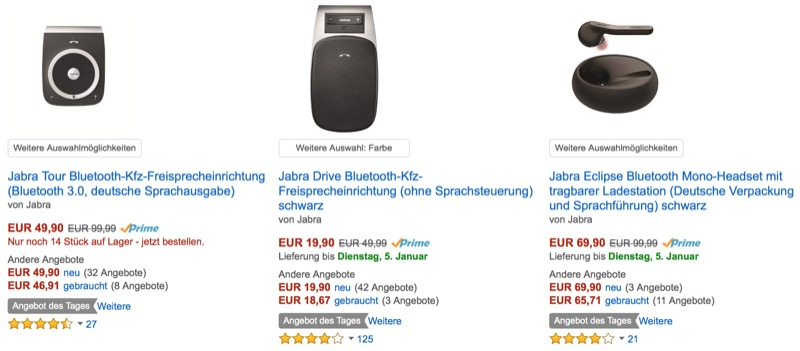 angebot des tages freisprecheinrichtungen von jabra. Black Bedroom Furniture Sets. Home Design Ideas