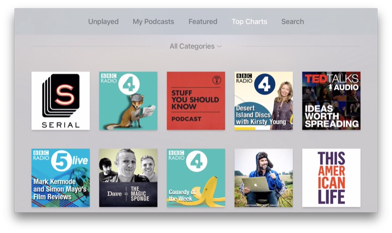 Podcast App Apple TV
