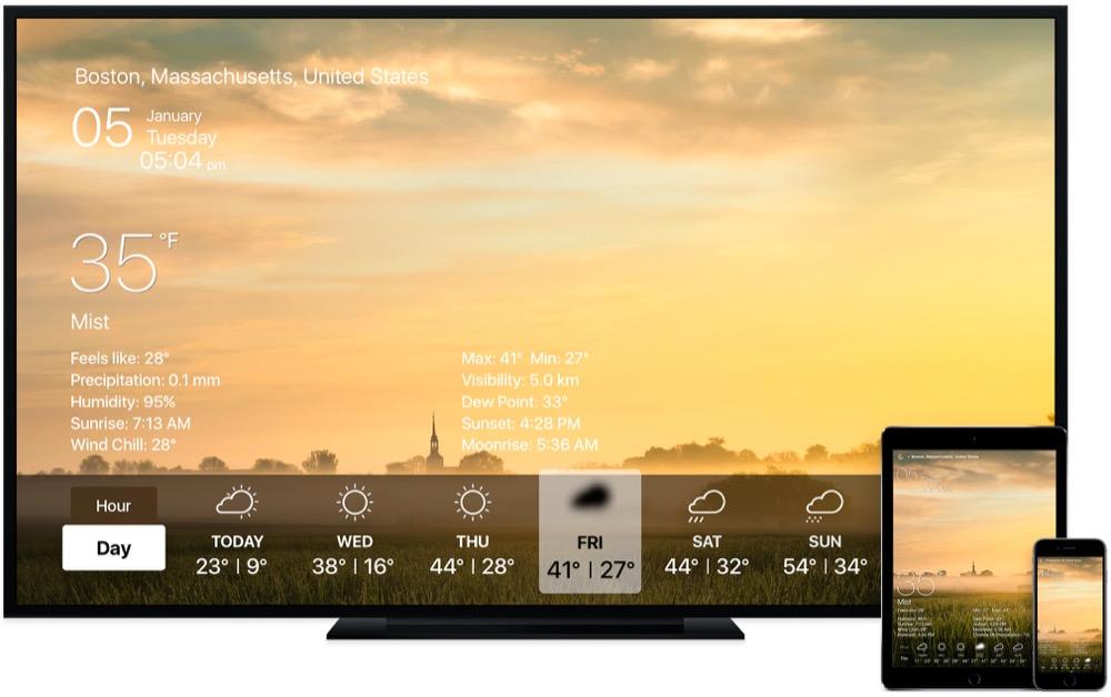 Wetter Live Apple TV