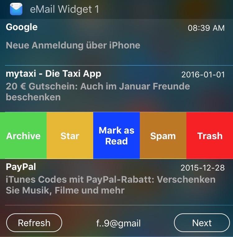 eMail Widget 2