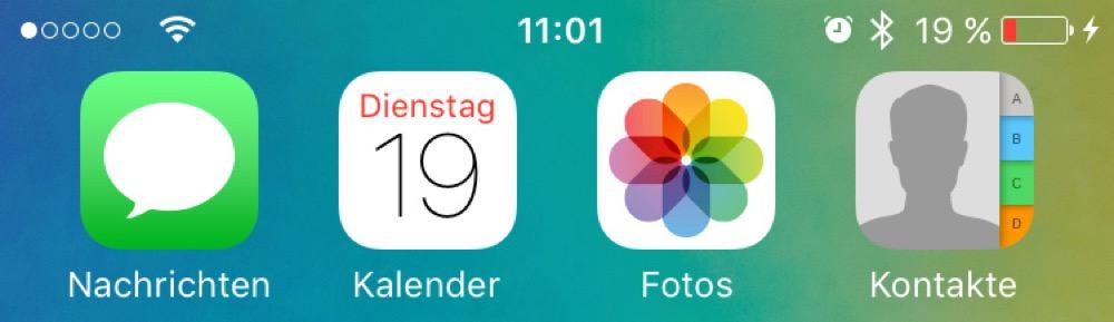 iOS Akku