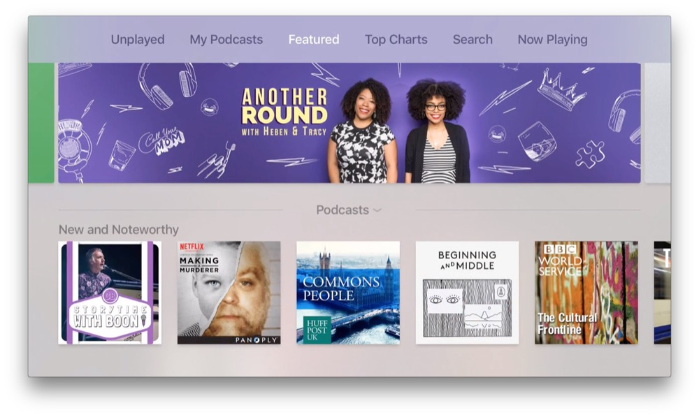 tvos 9.2 podcasts
