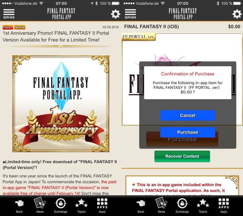 Final Fantasy II Angebot