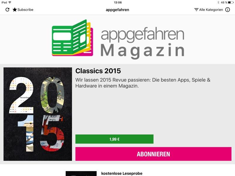 appgefahren Magazin Kiosk iPad