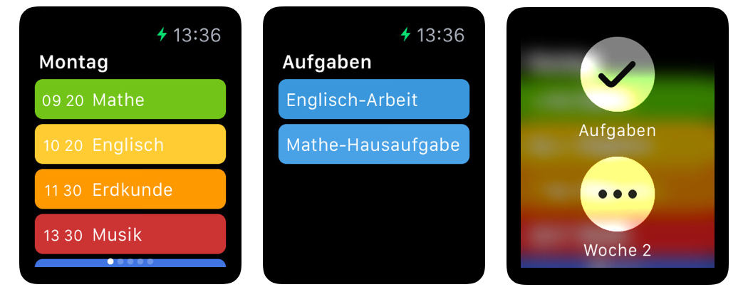 stundenplan deluxe apple watch