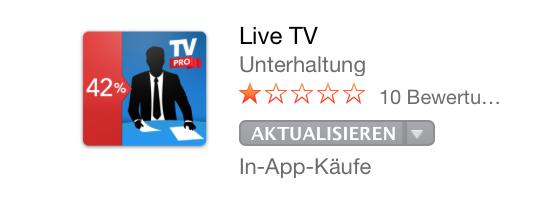 Live TV Mac App Store