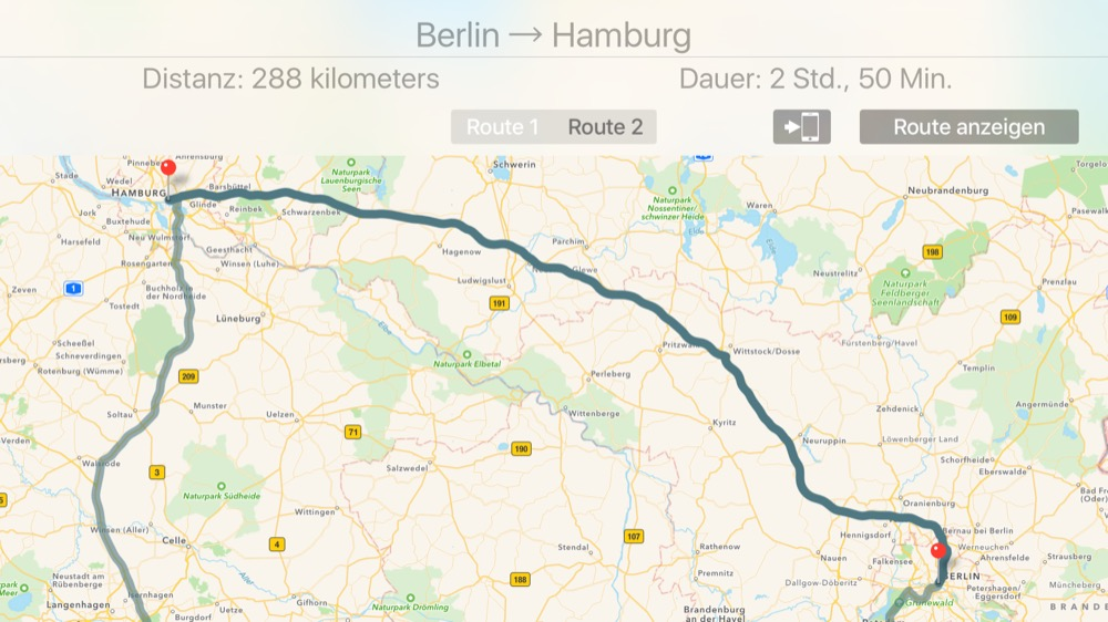 TV Maps: tvOS- und iOS-App bieten Navigation und Routen on