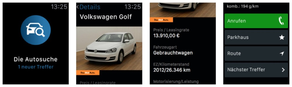 Volkswagen Die Autosuche Apple Watch